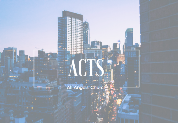 New Sunday teaching series on Acts